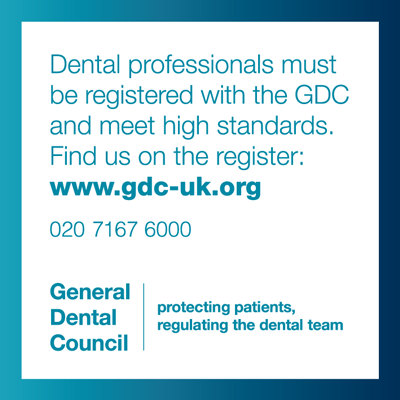 Registered with the General Dental Council